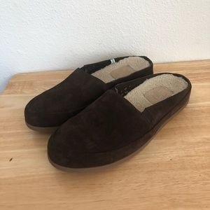 Mulo Brown Slip On Cushioned Footbed Slippers